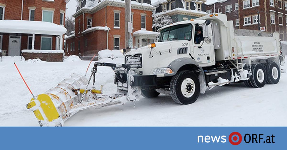 Rekordschneefälle in Nordamerika