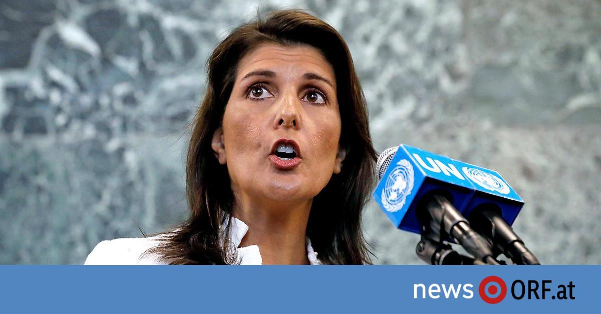 Auszeit angekündigt: Trumps UNO-Botschafterin Haley tritt zurück