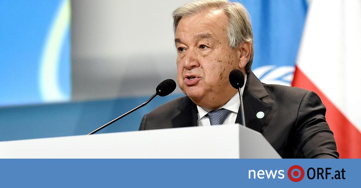 """""""Frage von Leben und Tod"""": Guterres warnt vor """"globalem Klimachaos"""""""