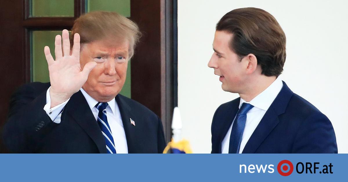 Besuch im Weißen Haus: Trump sieht Kurz als Ansprechpartner in EU