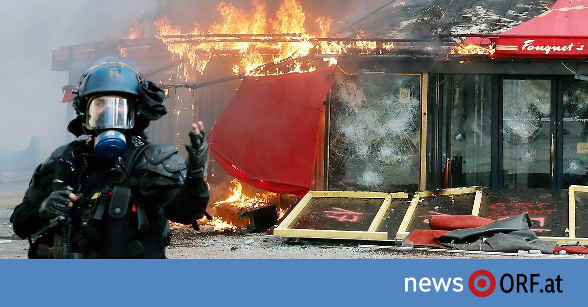 """Frankreich: Schwere Krawalle bei """"Gelbwesten""""-Protest"""