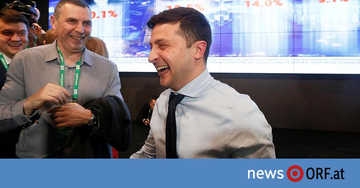 Ukraine: Komiker geht als Sieger in Stichwahl