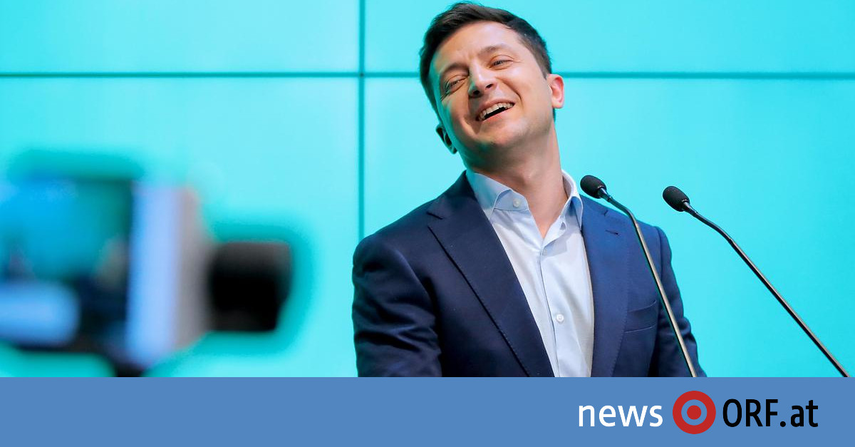 Erdrutschsieg: Politikneuling wird Präsident der Ukraine