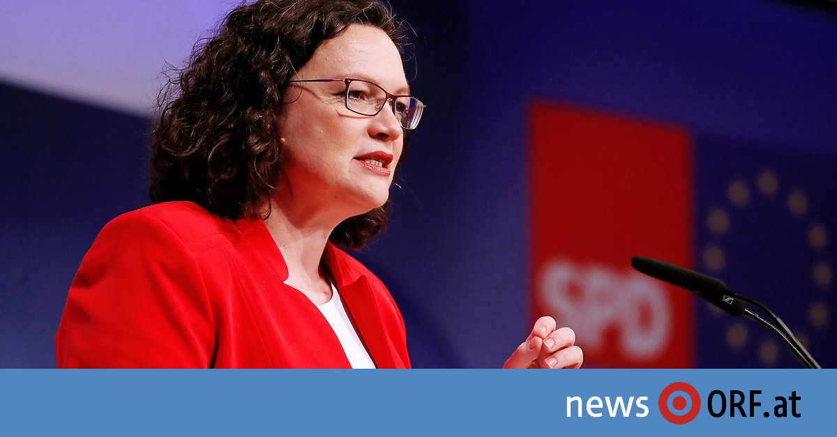 Nach EU-Wahl-Niederlage: SPD-Chefin Nahles kündigt Rücktritt an