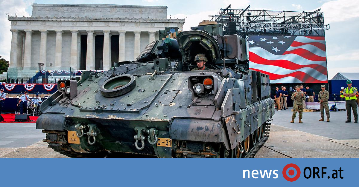 Trump-Parade zu Unabhängigkeitstag: Stars, Stripes und schweres Gerät