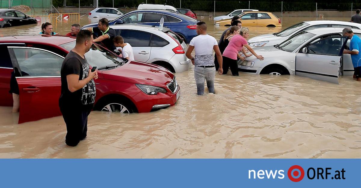 Jahrhundertsturm: Schwere Unwetter in Spanien