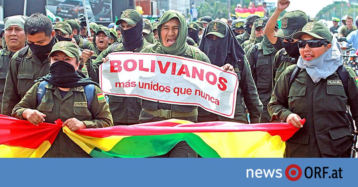 Polizei demonstriert mit: Proteste in Bolivien spitzen sich zu