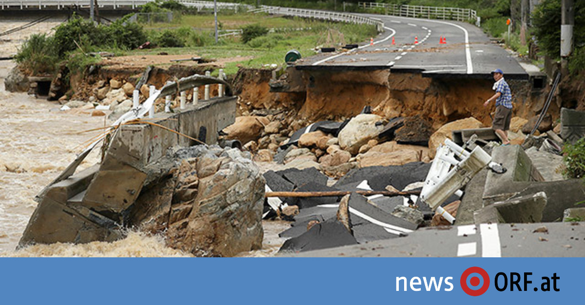 Dutzende Tote nach Unwettern in Japan