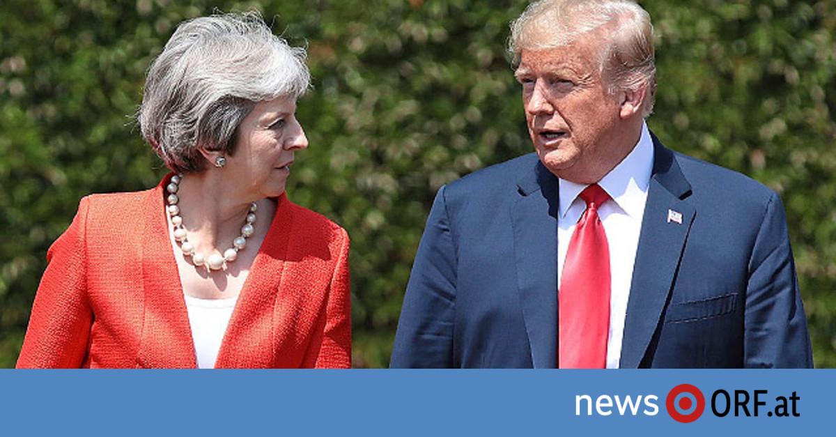 Trump bestreitet Kritik an May