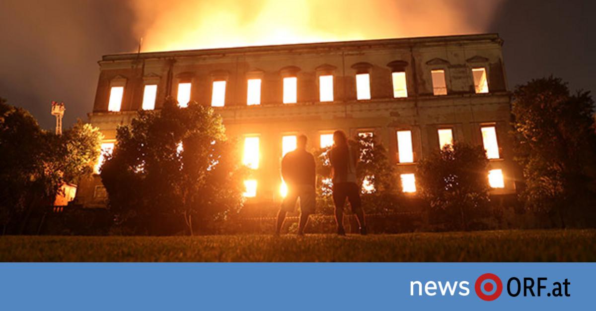 Nationalmuseum niedergebrannt
