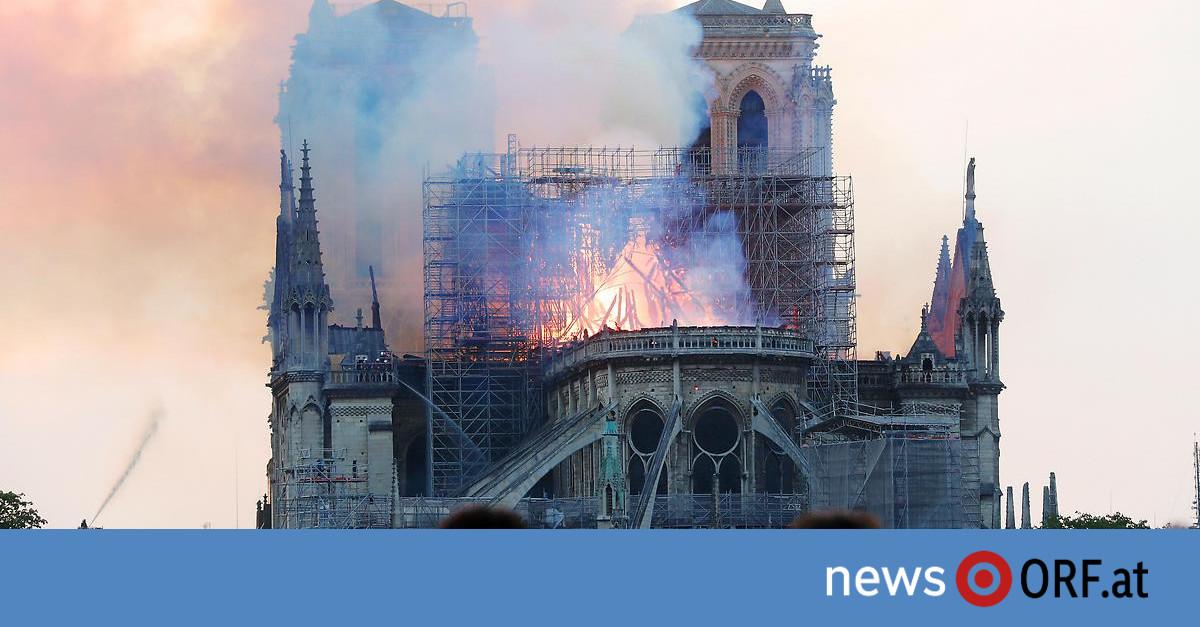 Frankreich: Feuer in Pariser Kathedrale Notre-Dame
