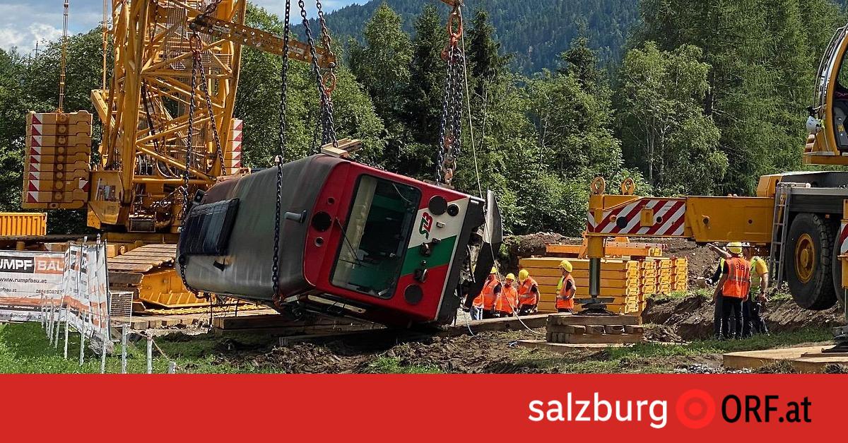 Murtalbahn-Garnitur sicher geborgen