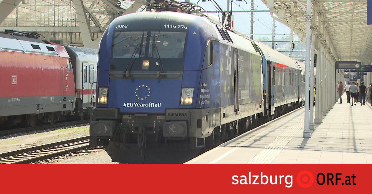 EU-Zug tourt durch Europa: Werbung für Bahnen