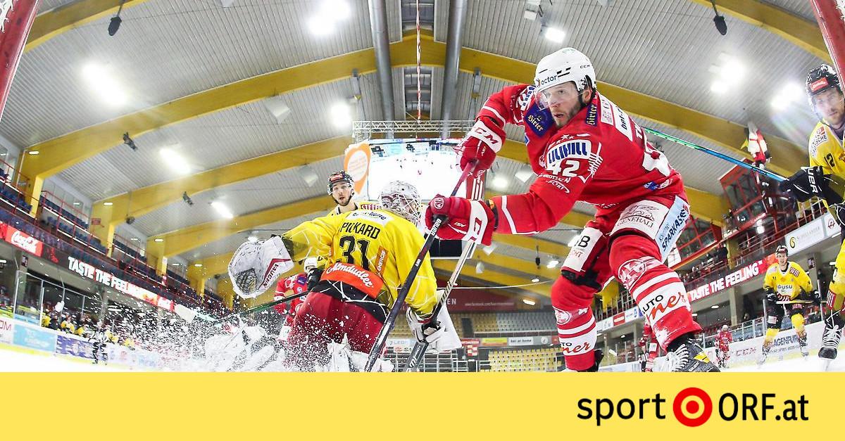 Eishockey KAC Feiert Heimsieg Gegen Vienna Capitals