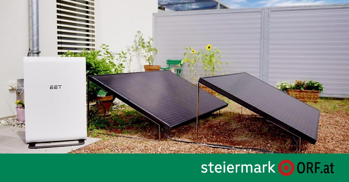 Wirtschaft: Mini-Photovoltaik-Anlage für den Balkon ...